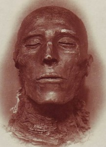 The mummy of Pharoah Seti I