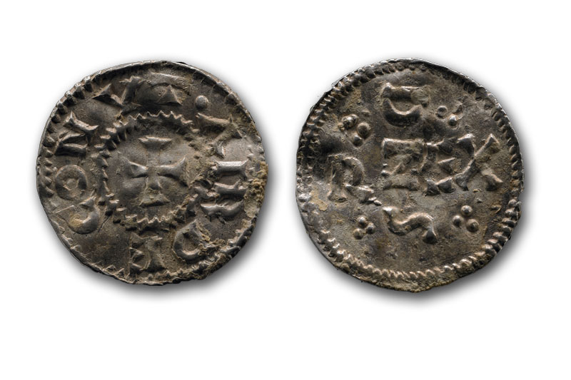 Viking Religious Artifacts Silver viking coin king     Viking Religious Artifacts