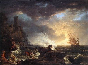 Painting of a wreck